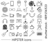 hipster theme and culture set... | Shutterstock .eps vector #489156523