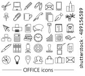 office work theme simple... | Shutterstock .eps vector #489156589