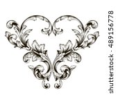 vintage baroque element... | Shutterstock .eps vector #489156778