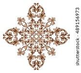 vintage baroque element... | Shutterstock .eps vector #489156973