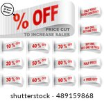 clothes labels with percentage... | Shutterstock .eps vector #489159868