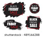 black friday sale background... | Shutterstock .eps vector #489166288
