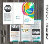 creative white brochure... | Shutterstock .eps vector #489169018