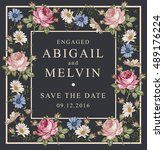 wedding invitation. beautiful... | Shutterstock .eps vector #489176224
