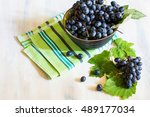 fresh organic autumnal fruits... | Shutterstock . vector #489177034