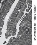 vector detailed map new york | Shutterstock .eps vector #489178084