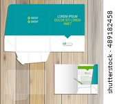 folder template design for... | Shutterstock .eps vector #489182458