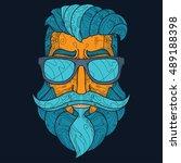 ornate hipster vector... | Shutterstock .eps vector #489188398