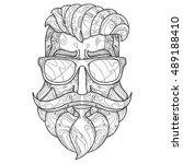 ornate hipster vector... | Shutterstock .eps vector #489188410