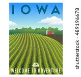 iowa  united states retro... | Shutterstock .eps vector #489196678