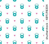 seamless vector pattern with... | Shutterstock .eps vector #489198304