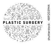 flat infographics plastic... | Shutterstock .eps vector #489203944