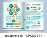 design medical brochure... | Shutterstock .eps vector #489203974
