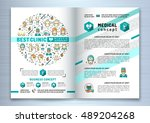 brochure for plastic surgery... | Shutterstock .eps vector #489204268