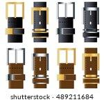 men's leather belt | Shutterstock .eps vector #489211684
