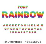 rainbow font. rounded abc.... | Shutterstock .eps vector #489216976