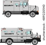 two variants of the security... | Shutterstock .eps vector #489220540