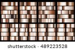 set of metal gradients in... | Shutterstock .eps vector #489223528