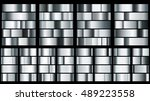 set of metal gradients in... | Shutterstock .eps vector #489223558