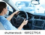 eager to hit the road. shot of... | Shutterstock . vector #489227914