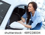 can see myself on the road... | Shutterstock . vector #489228034
