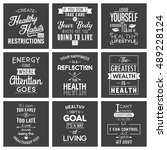 health. typography quotes. | Shutterstock .eps vector #489228124