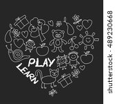 play learn and grow together...   Shutterstock .eps vector #489230668