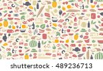 seamless colorful pattern made... | Shutterstock .eps vector #489236713