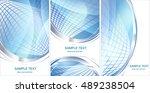 set of blue hi tech backgrounds ... | Shutterstock .eps vector #489238504