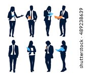business people silhouette set... | Shutterstock .eps vector #489238639