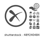 erase pictograph with bonus... | Shutterstock .eps vector #489240484