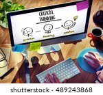 Small photo of Critical Thinking Creative Brainstorm People Concept