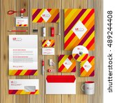 color corporate identity... | Shutterstock .eps vector #489244408