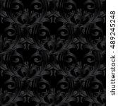 modern elegant dark black...   Shutterstock .eps vector #489245248