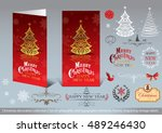 christmas decoration collection ... | Shutterstock .eps vector #489246430