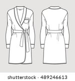 silk bathrobe for women.... | Shutterstock .eps vector #489246613