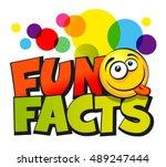 fun facts inscription vector