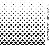 black white pentagram star... | Shutterstock .eps vector #489248278