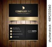 black and gold elegant business ... | Shutterstock .eps vector #489253360
