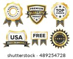 gold vector marketing labels   Shutterstock .eps vector #489254728