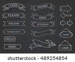 black ribbon banners set.... | Shutterstock .eps vector #489254854