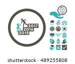 gentleman annual help... | Shutterstock .eps vector #489255808