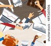 stock market analysis finance... | Shutterstock . vector #489260506