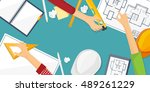engineering and architecture... | Shutterstock . vector #489261229