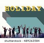 business people achievement...   Shutterstock . vector #489263584