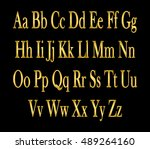 english alphabet  signs and... | Shutterstock .eps vector #489264160