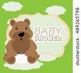 baby shower graphic design ... | Shutterstock .eps vector #489265798
