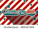 columbus day sale hand drawn... | Shutterstock .eps vector #489267460