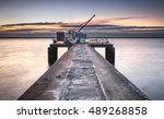 industrial and ancient pier... | Shutterstock . vector #489268858