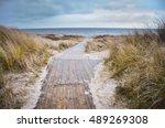 beach of baltic sea in cold...   Shutterstock . vector #489269308